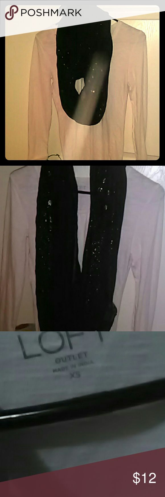 """Nwt loft shirt charolette rouse scarf. They compliment  one another and can be used to make over 50 """"looks"""" together or separate. Shirt is NWOT as well as the gold flaked infinity scarf charolette rouse Tops"""