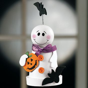 sandylandya@outlook.es  Flowerpot Ghost Craft Kit (makes 12)
