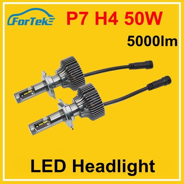Trade assurance cars auto parts 50w P7 5000lm h4 led headlight bulb