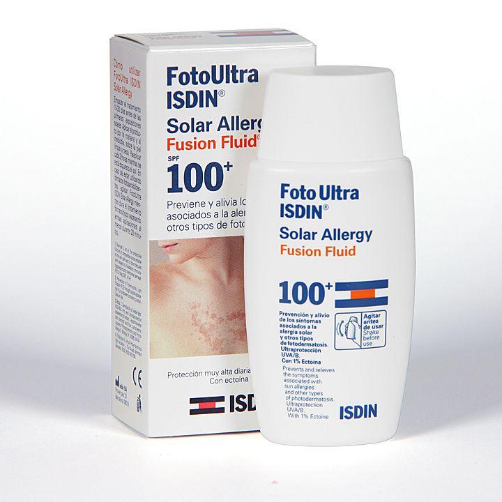 166981 Isdin Fotoprotector Ultra Solar Allergy Fusion Fluid - 50 ml.