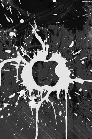 Apple Logo - Paint Splatter