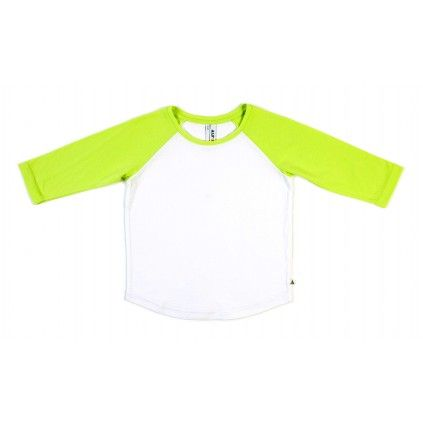 Basic Raglan - Citrus/White