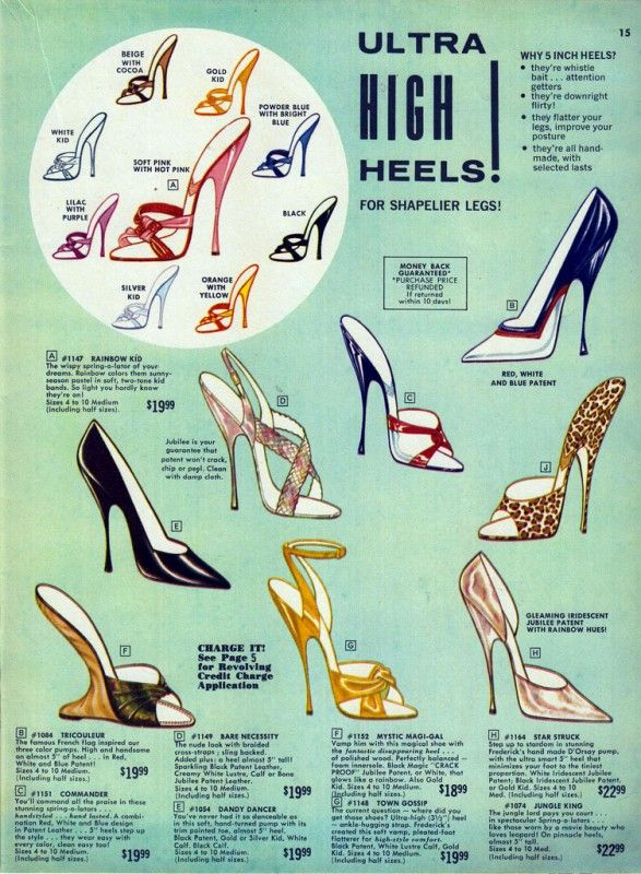 Vintage Fredericks of Hollywood catalog - 'Ultra HIGH Heels!'