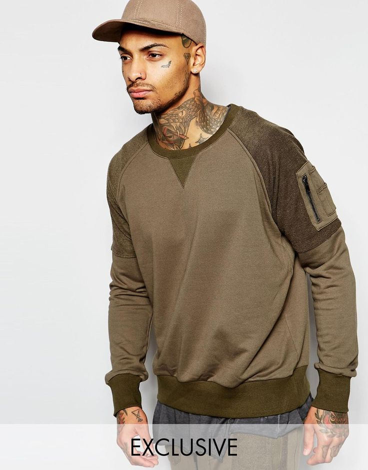 Image 1 of Underated Sweatshirt With Military Arm Pocket