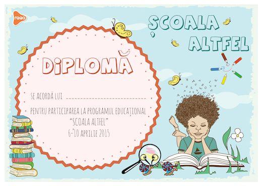 Model de diploma- Școala Altfel