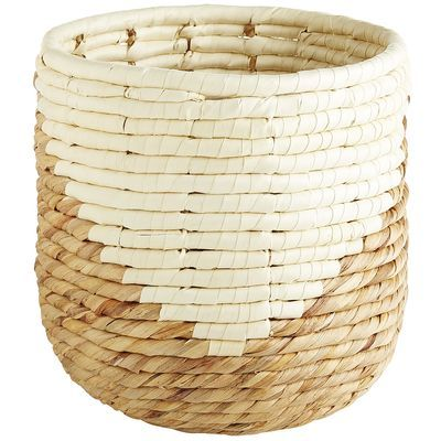 Hand-woven of water hyacinth and seagrass by our skilled artisans, our Mila Waste Bin adds updated style to your home. A distinctive palm triangle design brings a fresh new look to your bathroom, office or bedroom.