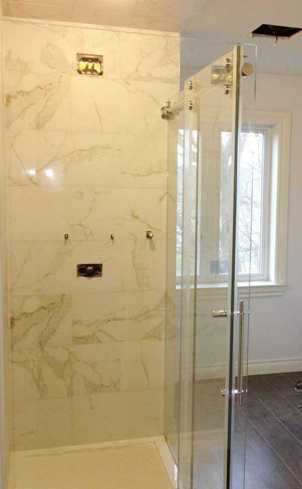acrylic panels for bathroom walls%0A Wall Tiles  Calcatta porcelain wall tiles  wall tile size      x         Project  Shower BaseGlass