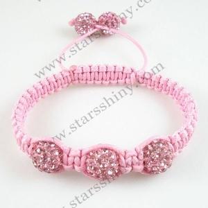 Kinder shamballa armbanje roze