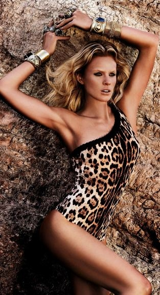 Roberto Cavalli Resort 2013 leopard / tiger print one piece swimsuit. Womens, Fashion, designer, swimwear, shoes, hair, hats, jewelry, handbags, summer, clothing, glasses, monokinis, bikinis, accessories