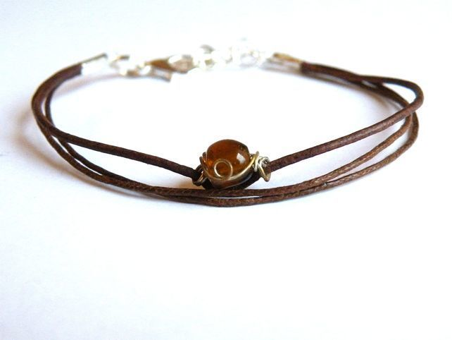 fairy of the wood -  textile leather bracelet £10.00
