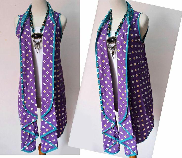 batik blazer ungu...