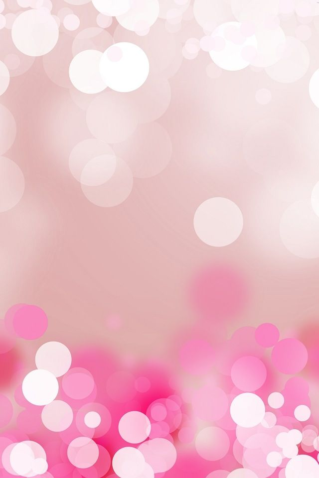 White To Pink Bokeh Glitter Sparkle Glow IPhone Wallpaper