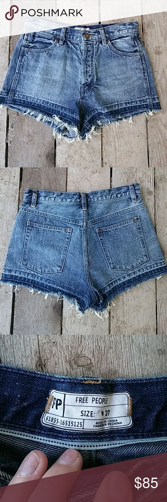 Free People Shorts Free People Jran Shorts With fraying at the bottom Free People Shorts Jean Shorts