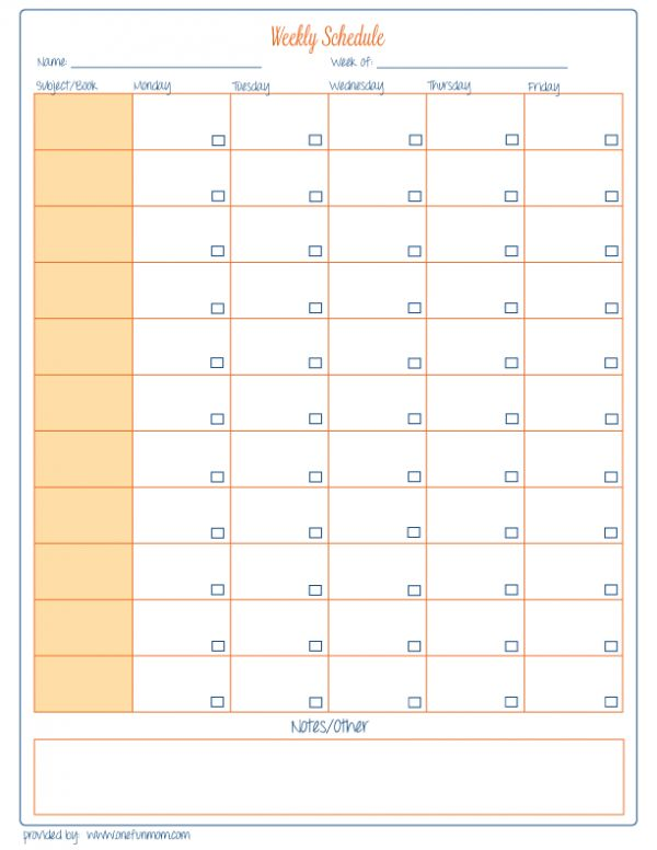 Free Homeschool Weekly Planner {printable}