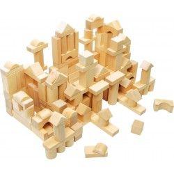Bloques de madera natural