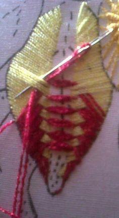 Puntada fantasía bordado.   artesanías y bordados   Pinterest