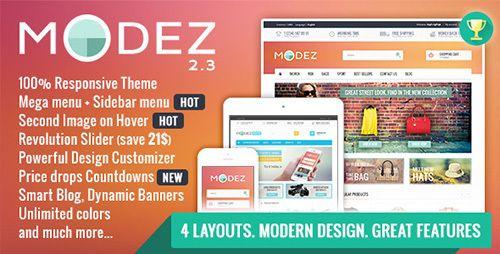 ThemeForest - MODEZ v2.3 - Responsive Prestashop 1.6 Theme + Blog
