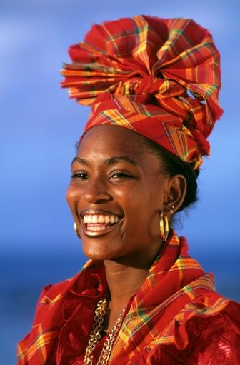 barbados clothing traditional | France, Guadeloupe, young creole in traditional dress