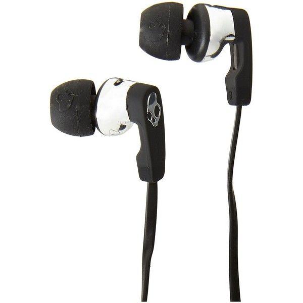Skullcandy Strum (Black/Black/Chrome) Headphones ($50) ❤ liked on Polyvore featuring accessories, tech accessories, ear bud headphone, skullcandy, skullcandy headphones, earbud headphones and skullcandy earbuds