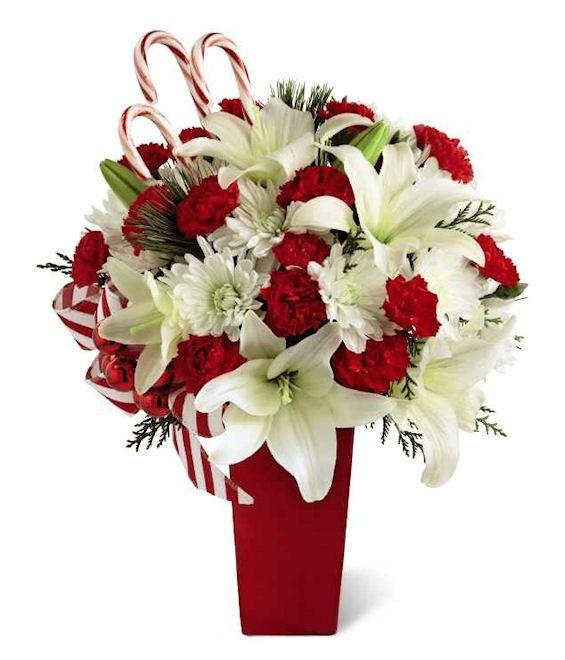 Arreglos de Navidad bonitos con plantas   Floral arrangement, Xmas ...