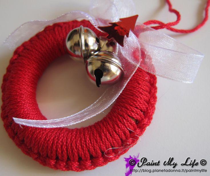 Decorazioni natalizie: anelli per tende