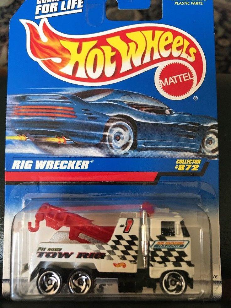 HOT WHEELS Rig Wrecker White Tow Truck 872 Mattel eBay