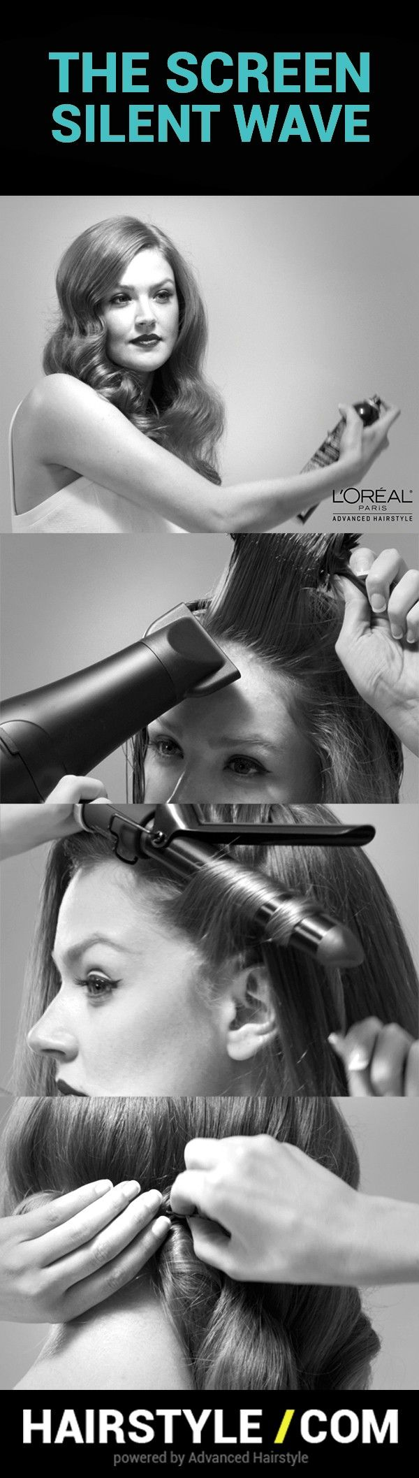 """Advanced Hairstyle by L""""Oreal Paris products works best to create gorgeous Screen Siren Waves @hairstyledotcom"""
