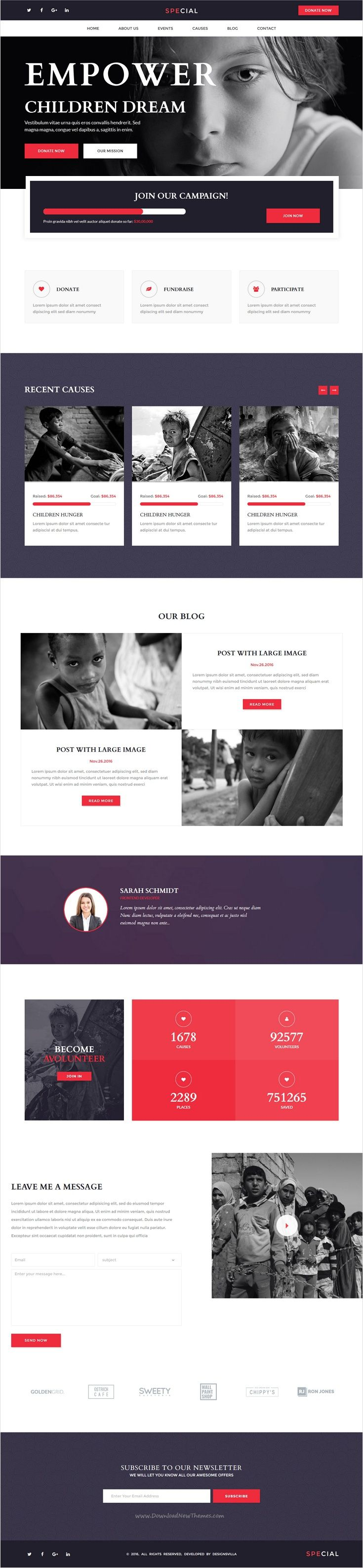 Special is a multipurpose #bootstrap landing page template #charity #help #webdev with HTML Page Builder, unique and elegant designs with 28+ stunning homepage layouts 500+ elements and amazing features download now➩ https://wrapbootstrap.com/theme/special-landing-page-pack-html-builder-WB0J8L557?ref=datasata