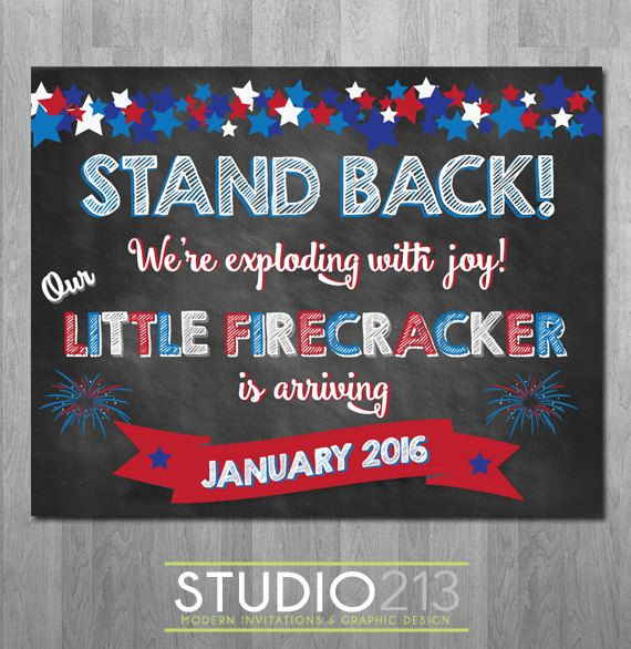 4TH OF JULY Pregnancy Announcement, Independence Day ...