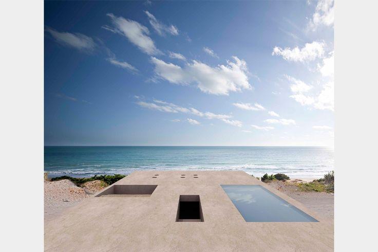 House of the Infinite | a stone platform facing the Atlantic Ocean | designed by Alberto Campo Baeza  #architecture #design #ek_magazine