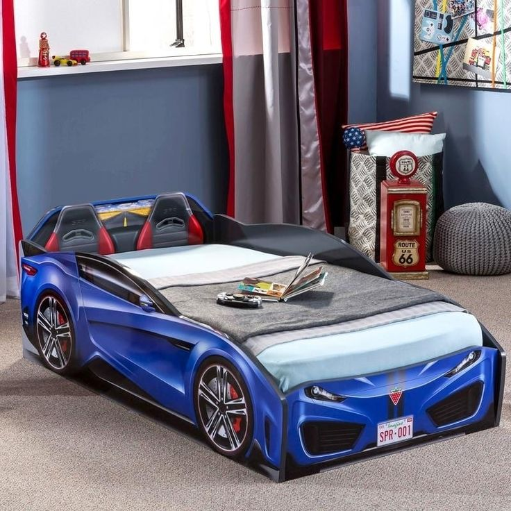 Cilek Spyder Toddler Race Car Bed (Blue) Race car bed