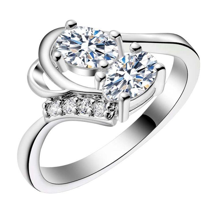 Два блестящие Овальные циркон серебряные позолоченные Кольца Мода Ювелирные Кольца Женщины и Мужчины,/CNYWXWOV QXOLWZOUкупить в магазине yinfen guo's storeнаAliExpress