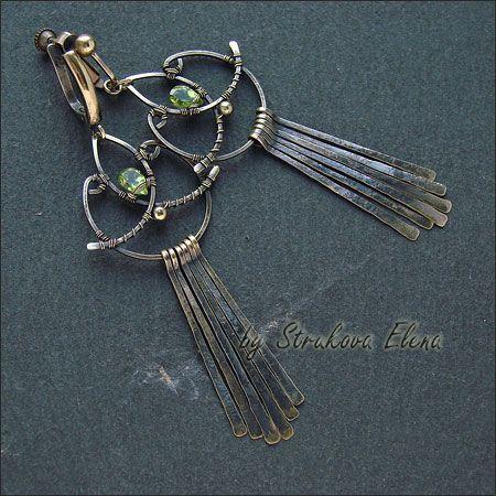 Strukova Elena - earrings clips in turn ....))