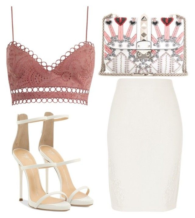 """Untitled #4139"" by evalentina92 ❤ liked on Polyvore featuring River Island, Zimmermann, Valentino and Giuseppe Zanotti"