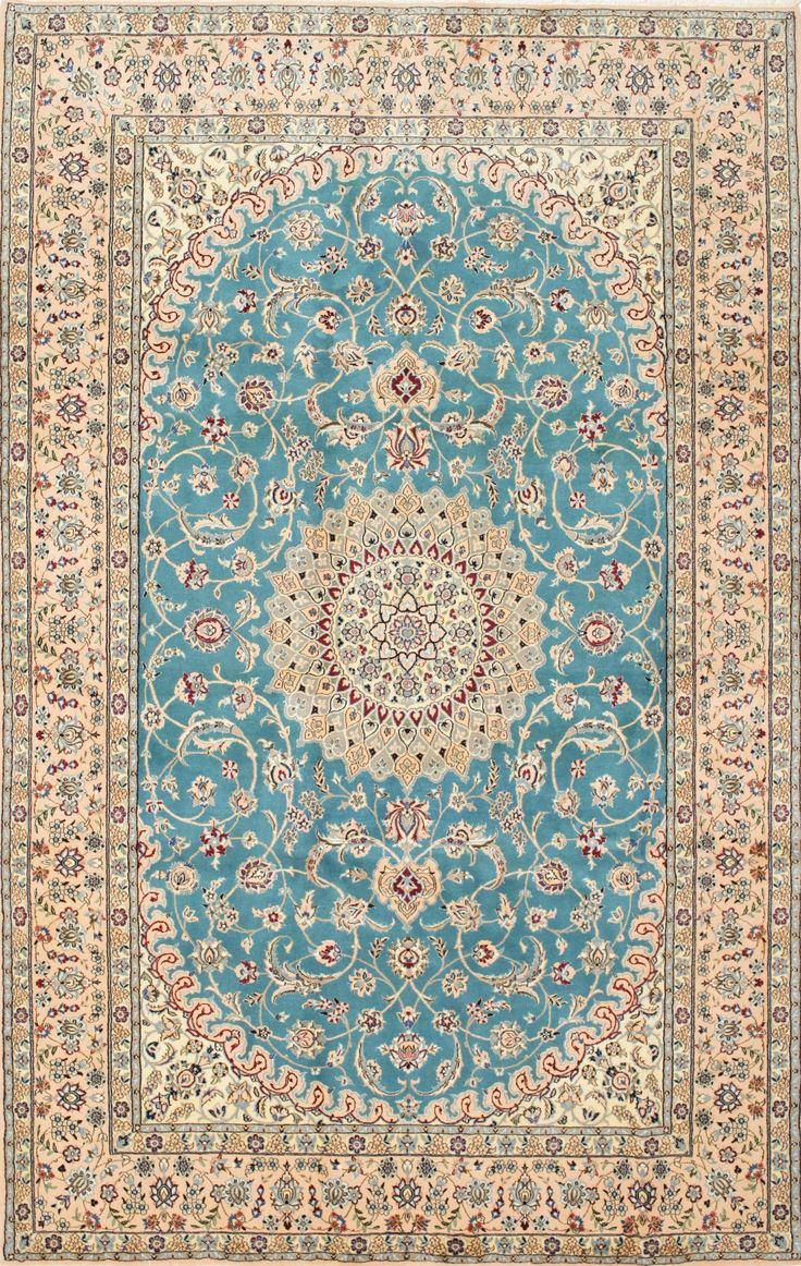 Persian Nain rug, wool and silk