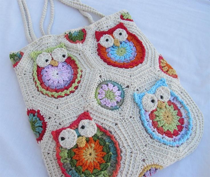 Owl purse (crocheted) photo - no pattern though.  :(