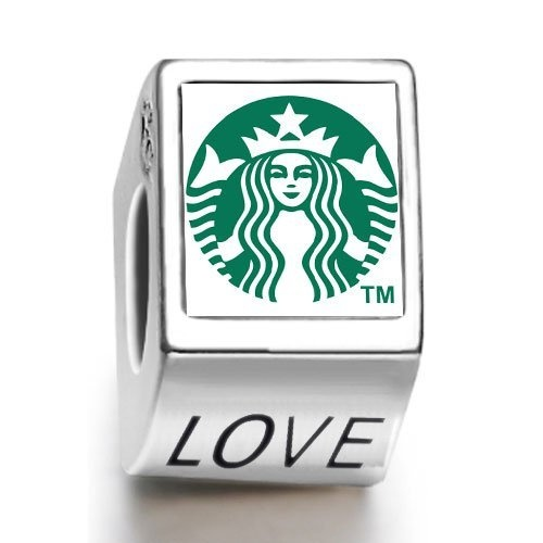 Soufeel Starbucks coffee logo photo love European charm bead