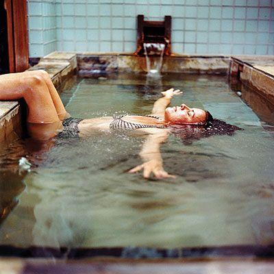 Japanese Ofuro soaking bathtub #interiors #bathroom: Water, Pool, Bathtub, Warm Spring, Places, Hot Springs, Floating Meditation, New Mexico