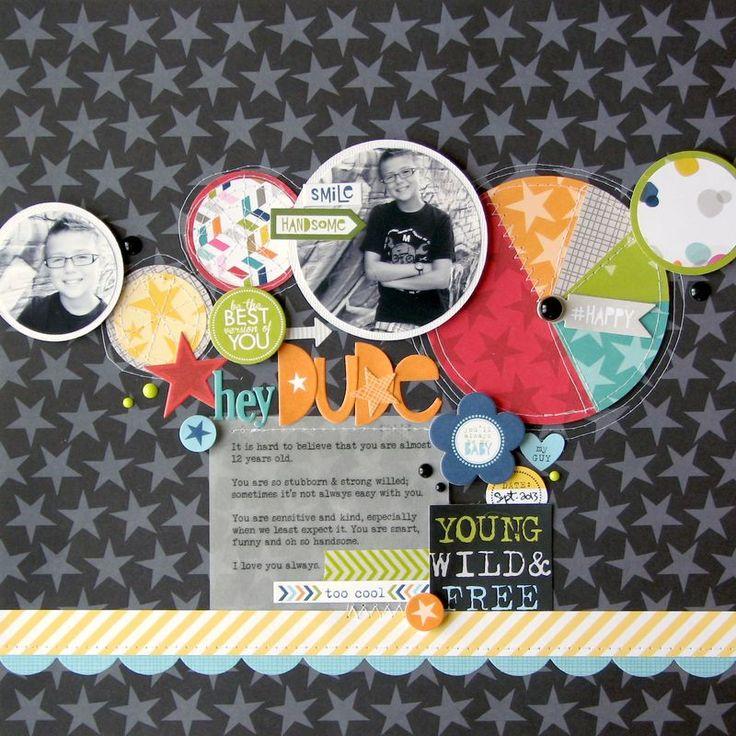 #papercraft #scrapbook #layout  Nicole Nowosad _ Hey dude for Bella Blvd
