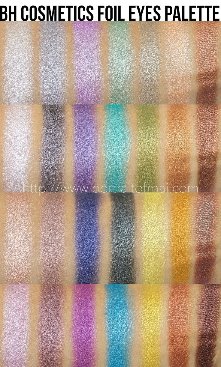 BH COSMETICS FOIL EYES PALETTE. Eyeshadow Swatches.
