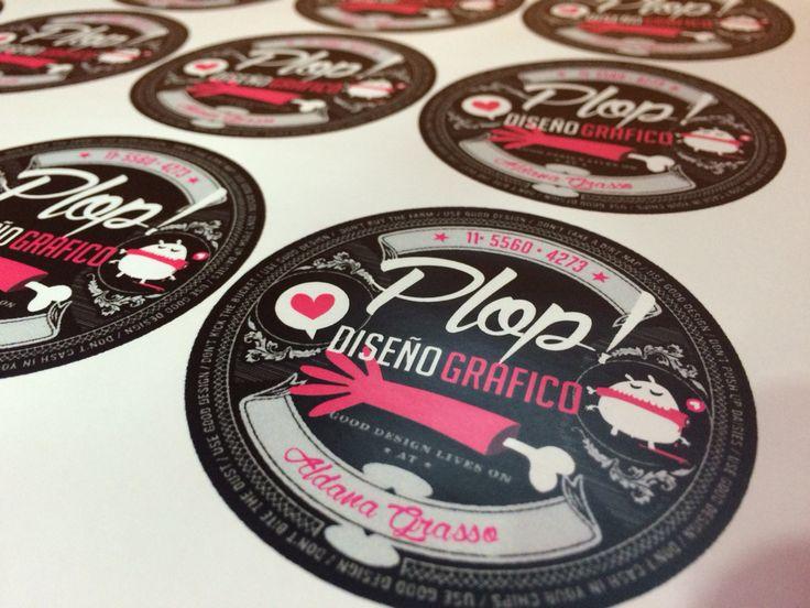 PLOP! • Stickers con troquel