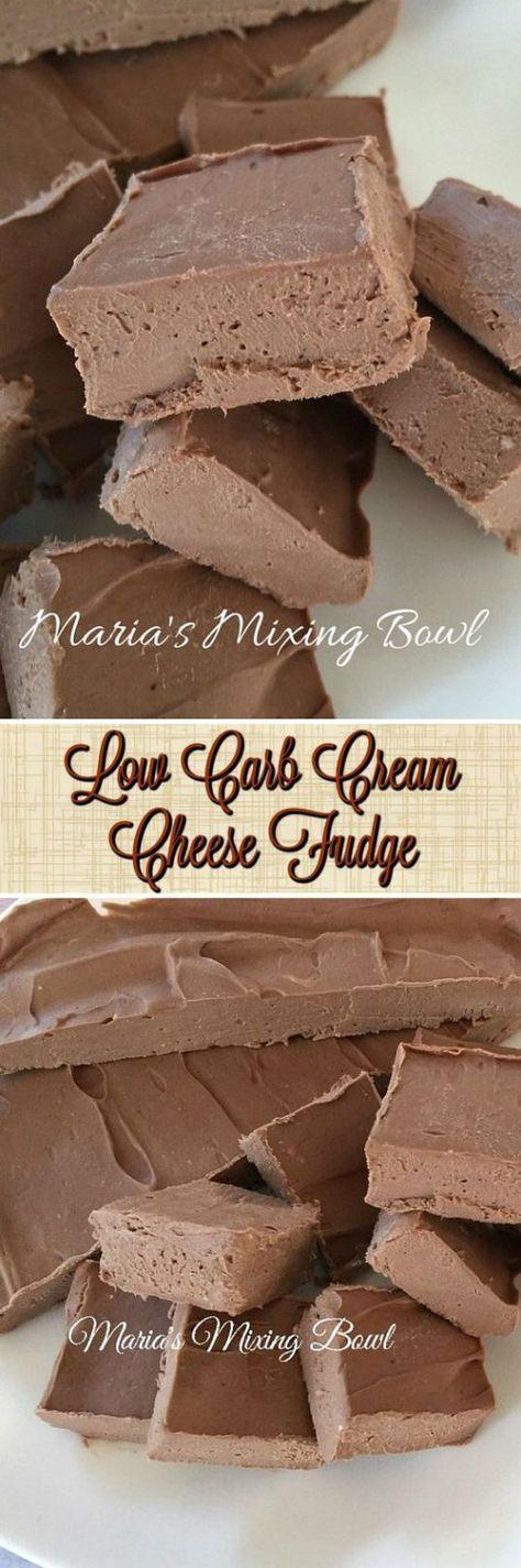 Low Carb Cream Cheese Fudge - Maria's Mixing Bowl