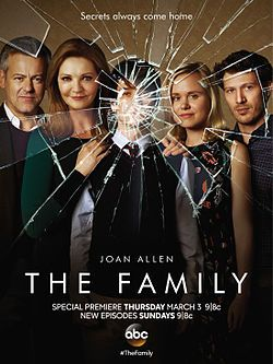 Too bad ABC canceled the series The Family (ABC-March 6, 2016) a political thriller, mystery drama TV series created/executive produced by Jenna Bans, a former ShondaLand regular writer. The return of a mayor's young son who was presumed dead after disappearing over a decade earlier. Stars: Joan Allen, Alison Pill, Margot Bingham, Zach Gilford, Liam James, Floriana Lima, Madeleine Arthur, Ramian Newton, Rupert Graves, Andrew McCarthy.
