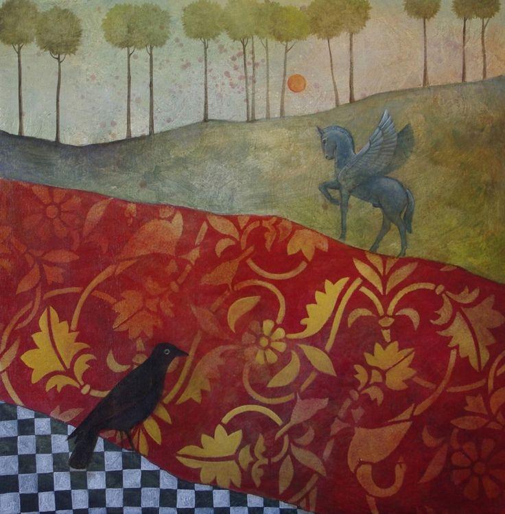 Crépuscule, Augustin Frison-Roche, huile sur bois.