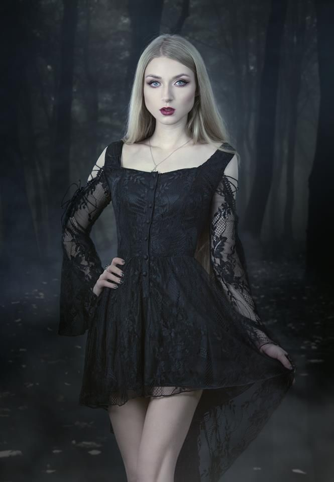 "gothicandamazing: ""  model, photo, mua: Absentia dress: Dark in love  Welcome to Gothic and Amazing 
