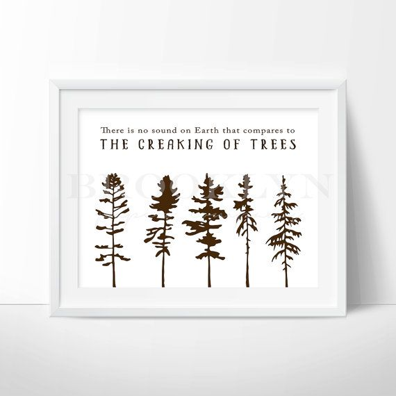 11 best woodland prints for nursery or home office images for Nature decor