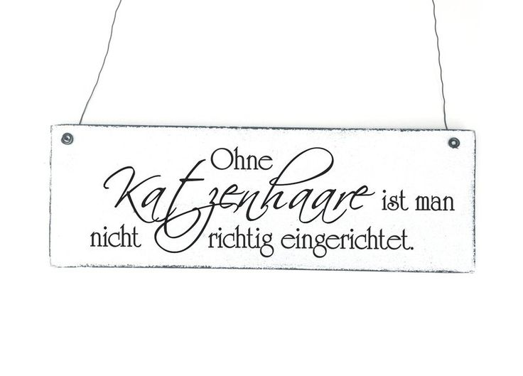 KATZENHAARE Dekoschild Shabby Vintage Holz von DÖRPKIND auf DaWanda.com