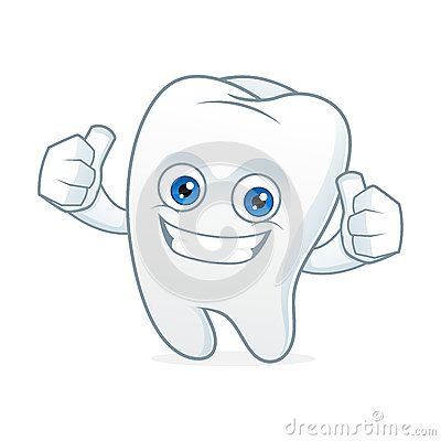 Tooth cartoon mascot clean and happy