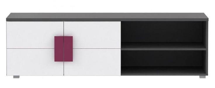 TV - Unterschrank Lillyfee mit wundervollen violetten Farbakzenten passend zum Kinder- und Jugendprogramm Lillyfee 1 x TV - Unterschrank mit 2 Türen und 6 Ablageflächen...