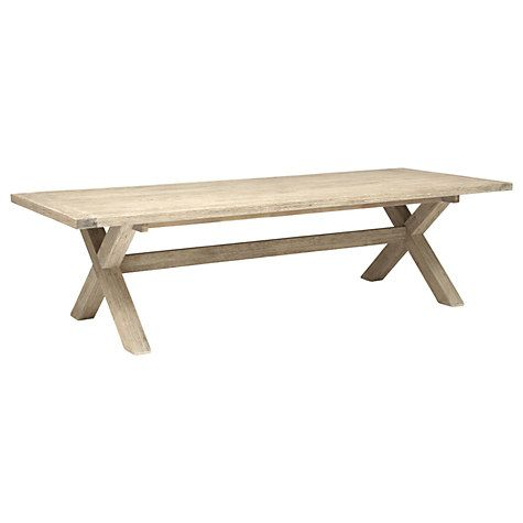 Buy KETTLER Cora 10 Seater Rectangle Table, FSC-Certified (Acacia), Whitewash Online at johnlewis.com